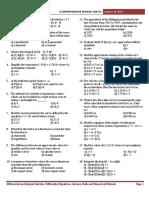 Compre Exam Math