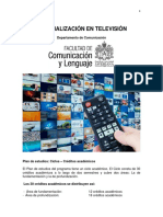 Plan de Estudios - Especializacion en TV