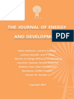 """""""Barriers to Energy Efficiency in Developing Countries' Industry Sectors"""