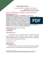Modelo de Artigo ABNT