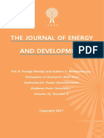 """Evaluation of Economic Rent from Hydroelectric Power Developments"