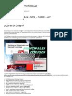 Códigos de Soldadura_ Aws – Asme – API – Soldaduras Sparkweld