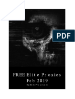 FREE Elite Proxies (Feb 2019)