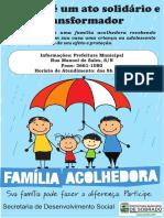 Banner Familia Acolhedora 80x120