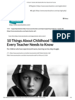 10 tips for teachers with students who have experienced trauma