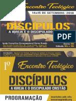 1º Encontro Teológico – Discípulos
