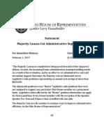 Statement of Layoffs 1-31-19