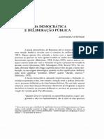 Avritzer - Teoria Democrática e Deliberação Pública