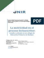 TFM Motricidad y Lectoescritura