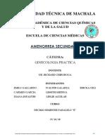 Amenorrea Secundaria.docx Informe