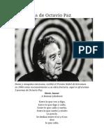 5 Poemas de Octavio Paz