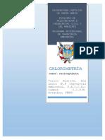 Monografía Calorimetría