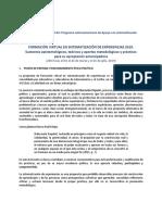 Curso Virtual Sistematizacion de Experiencias 2019- CONVOCATORIA