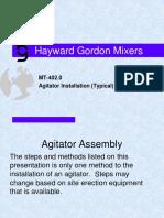 MT 204.0 Agitator Installation