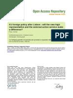 Ssoar-2008-Paul-eu Foreign Policy After Lisbon