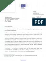 Carta Comisario Vytenis Andriukaitis