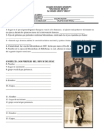 Examen Historia de Mexico SEGUNDO Bloque SecundariaTERCERO