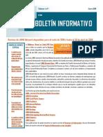 Boletín Informativo #1 Enero 2019