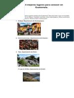 Los Mejores Lugares Turisticos de Guatemala