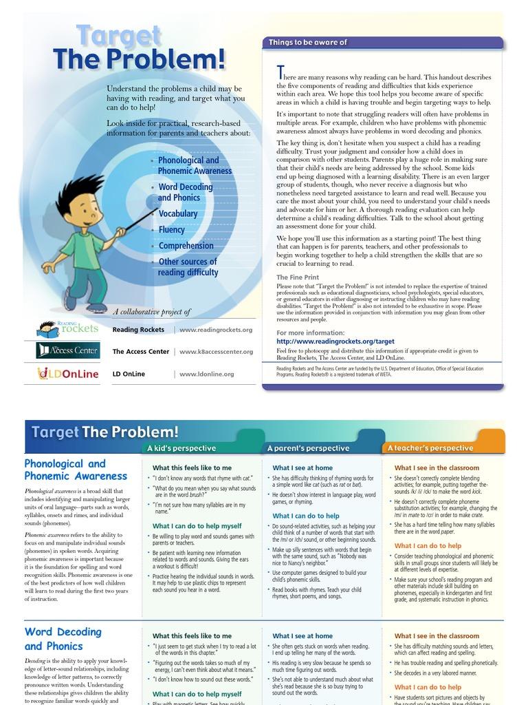 Target | Phonics | Reading (Process)