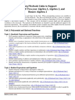 Algebra 2 Unit 2 CK12 Flexbook Links