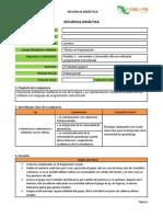 Secuencia Desarrolla software utilizando programación estructurada