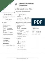 Formulario - Ecuaciones Diferenciales