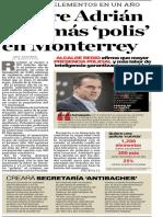 01-02-19 Quiere Adrián 25% más 'polis' en Monterrey