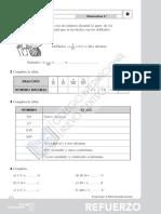 Matemáticas, Tema 8, Ejercicios de Refuerzo y Ampliación