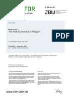"""Iyer, S. 2015. """"The New Economics of Religion"""""""