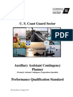 USCG Auxiliary Assistant Contingency Planner (Formerly Assistant Contingency Preparedness Specialist) Performance Qualification Standard