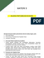 Materi 3, Sejarah Pertumbuhan Ekonomi