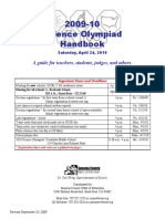 Science Olympiad handbook