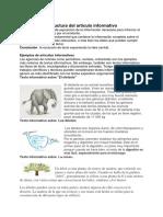 Estructura Del Artículo Informativo