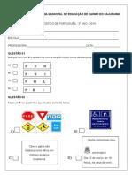 Avaliação Diagnóstica 3 Ano de Português Em WORD