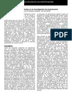 Avances Recientes en La Investigación de Angiotensina