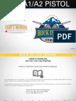 Rock Island Armory 1911 A1/A2 Pistol User's Manual