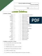 Ficha de Trabalho - Nomes Coletivos