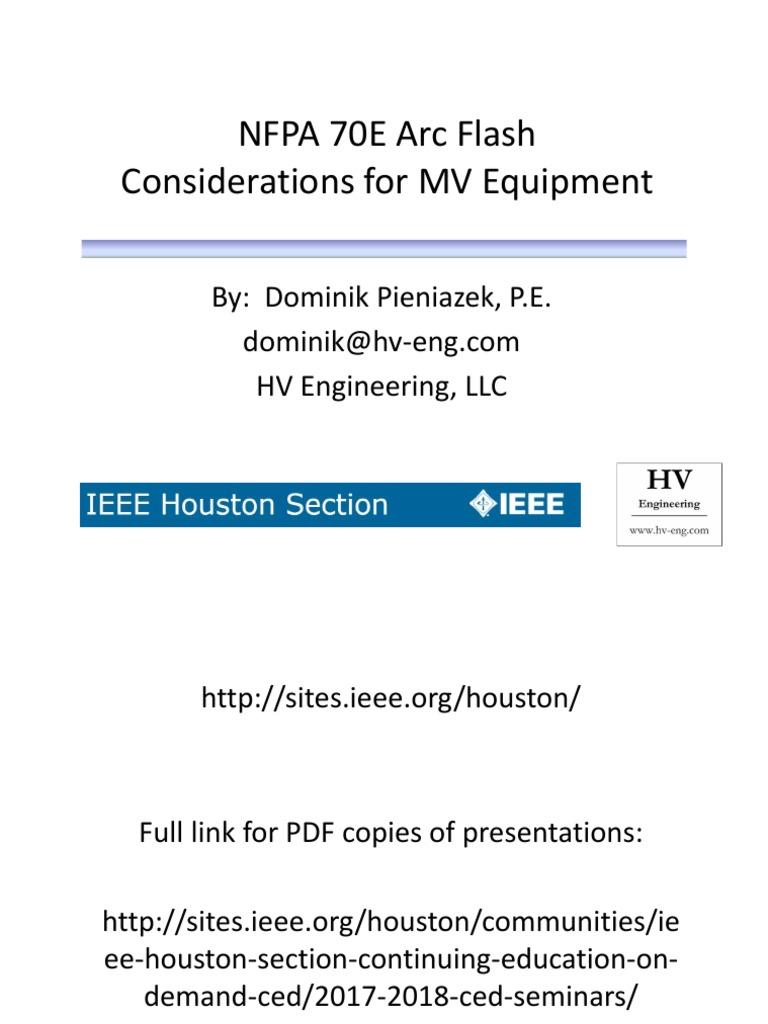 Arc Flash Presentation IEEE CED Final | Electric Arc | Personal