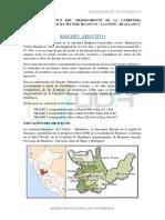 Estudio Definitivo Del Mejoramiento de La Carretera Huanuco Avance