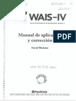 WAIS IV Manual de Aplicacion y Correccion