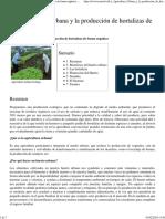 La Agricultura Urbana y La Producción de Hortalizas de Forma Orgánica - EcuRed