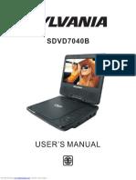 sdvd7040b manual del dvd