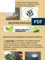 Mezclas Para La Elaboracion de Extractos Vegetales