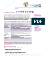 LP 2.1 Forms of Energy Introduction