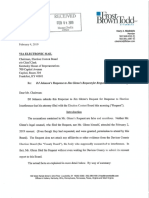 Johnson Response to Glenn Election Interference