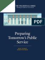 Preparing Tomorrow's Public Service