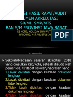Hasil Audit Dokumen Akreditasi 2018
