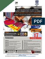 01° Temario Curso Análisis Sísmico y Diseño en Concreto Armado DICIEMBRE2018