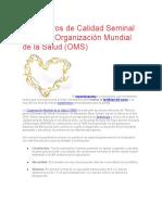 Parámetros de Calidad Seminal Según La Organización Mundial de La Salud